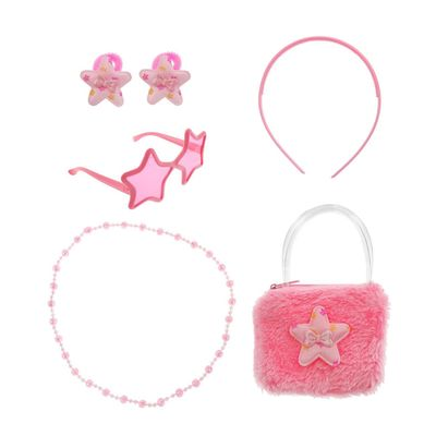 """Набор для девочки """"Звёздочка"""", 6 предметов: очки, ободок, 2 резинки, бусы, сумка"""