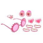 """Набор для девочки """"Красотка"""", 10 предметов: кольцо, очки, 2 краба, 6 резинок"""