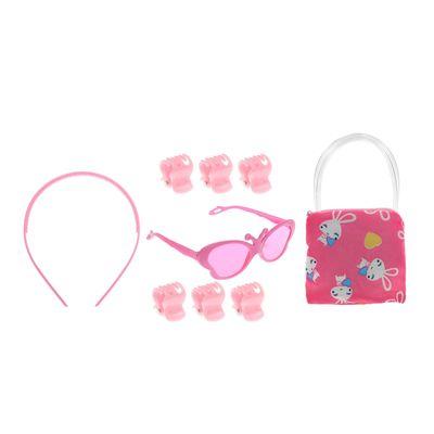 """Набор для девочки """"Бабочка"""", 9 предметов: 6 крабов, очки, ободок, сумочка"""