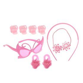 Набор для девочки 'Ягодка', 9 предметов: очки, ободок, 3 резинки, 4 краба Ош