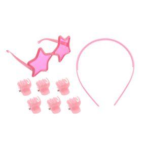 Набор для девочки 'Звезда', 8 предметов: очки, ободок, 6 крабов Ош