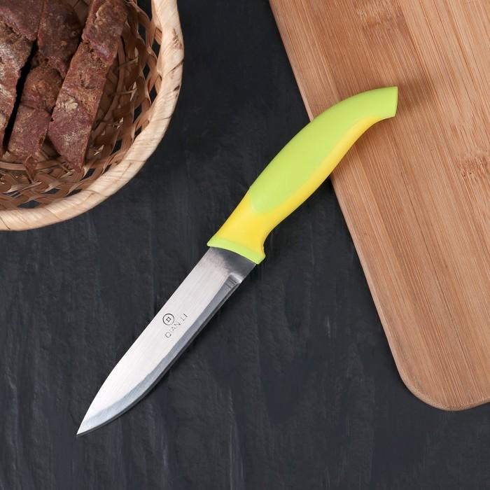 """Нож кухонный """"Ассорти"""" лезвие 11 см, цвета МИКС"""