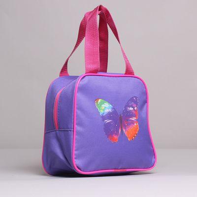 Сумка детская на молнии, 1 отдел, наружный карман, цвет сиреневый