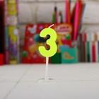 """Свеча цифра мини на открытке """"3 года"""", Микки Маус"""