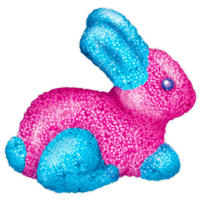 """Игрушки своими руками """"Заяц"""", 10 гр розоый + 10 гр голубой"""