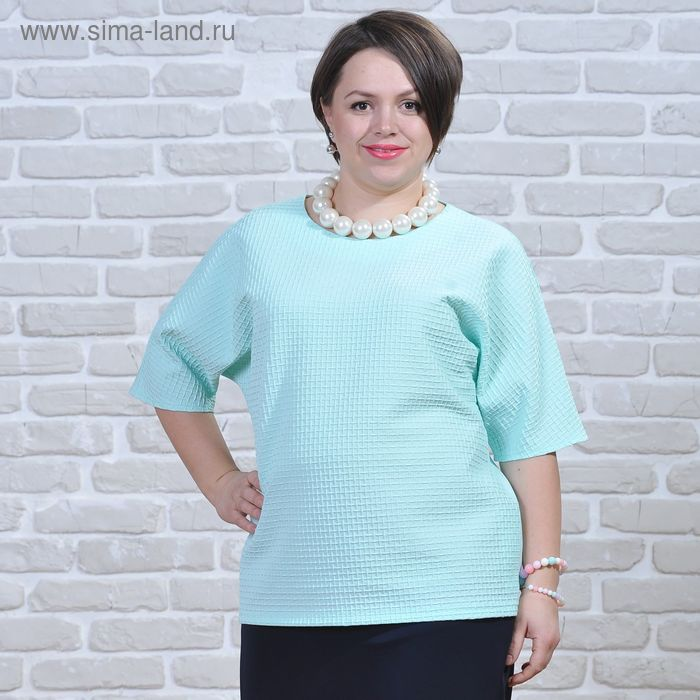 Блуза женская 5830, размер 50, рост 164 см, цвет зеленый