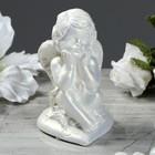 "Статуэтка ""Ангел на сердечке 2"" перламутровая, 5,5х6х10 см"
