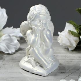 """Статуэтка """"Ангел на сердечке"""", цвет перламутровый, 10 см в Донецке"""