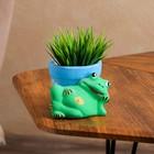 """Горшок для цветов """"Лягушка лежит"""" 8 см, микс"""