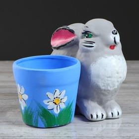"""Горшок для цветов """"Кролик"""" , 0,28 л, микс"""