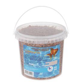 Корм для рыб Гаммарус (тушка), ведро 1 л, 120 г
