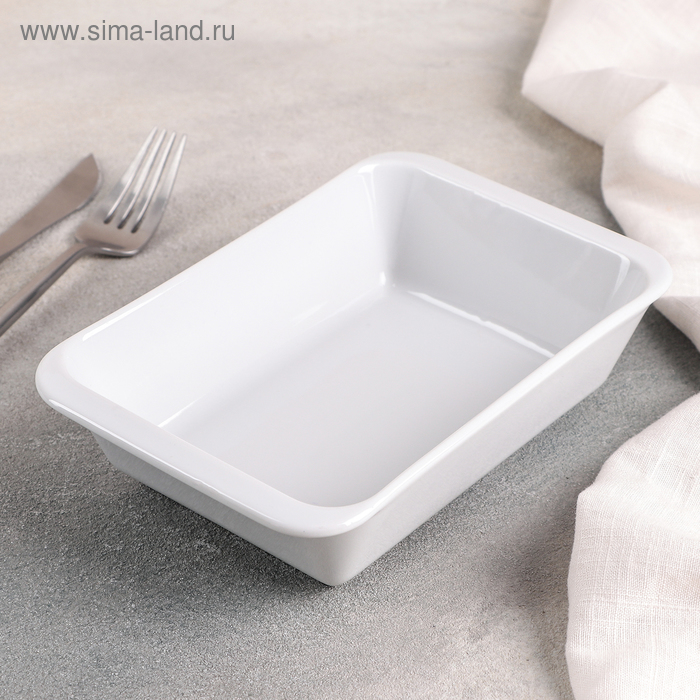 Форма для запекания 650 мл, цвет белый