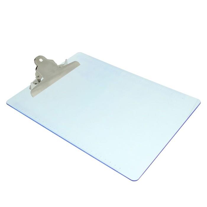 Планшет с прижимом формат А4 пластик прозрачный