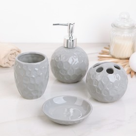 """Set of bathroom accessories, 4 piece the """"Stone bowl"""", MIX color"""