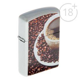 Зажигалка «Кофе» в металлической коробке, кремний, бензин, 6x8 см в Донецке
