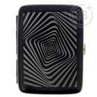 Портсигар с зажигалкой, Орнамент, черный, зарядка то USB 8,5*11,5см