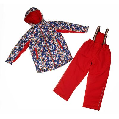 """Костюм для девочки """"Настёна"""", рост 104 см (26), цвет синий/красный"""