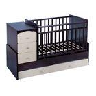 Детская кровать-трансформер СКВ-9 «Жираф» на маятнике, цвет венге/бежевый