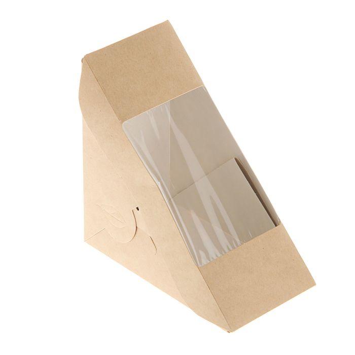 Упаковка для сэндвичей 13 х 13 х 7 см
