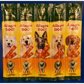 """Колбаски B&B """"Аллегро Дог"""" для собак, курица, 5 шт."""