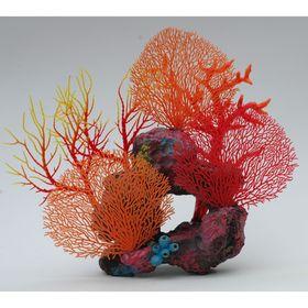 Композиция из кораллов пластиковая 39х16х33см (SH9536R)
