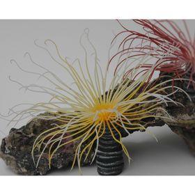 Коралл пластиковый (мягкий) желтый 3х3х15см (SH230Y)