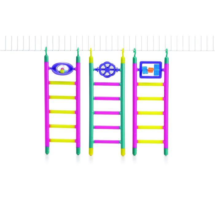 Лесенка Beeztees  пластмассовая с игрушкой 6 шагов, в ассортименте, 21см