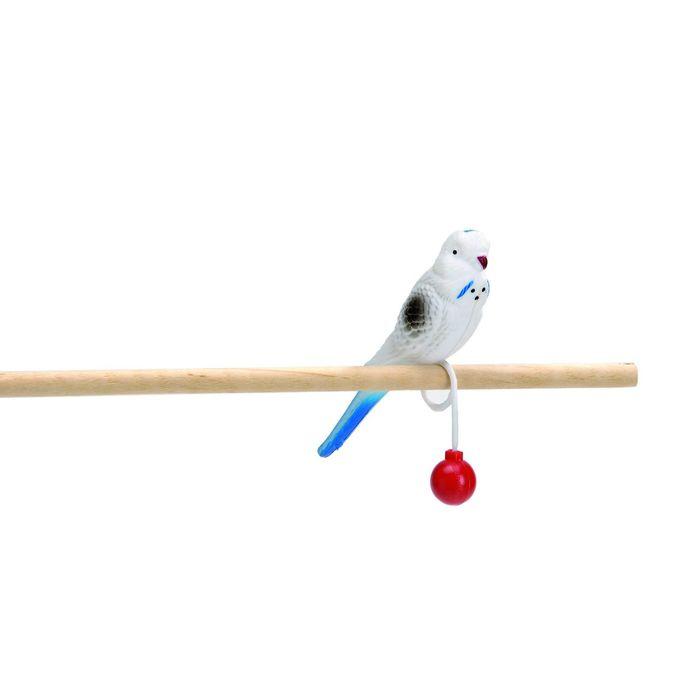"""Игрушка Beeztees   """"Попугай пластиковый на кольце"""" для птиц, 15см"""
