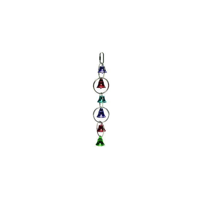 Игрушка Beeztees для птиц кольца с колокольчиками, металл, 31см