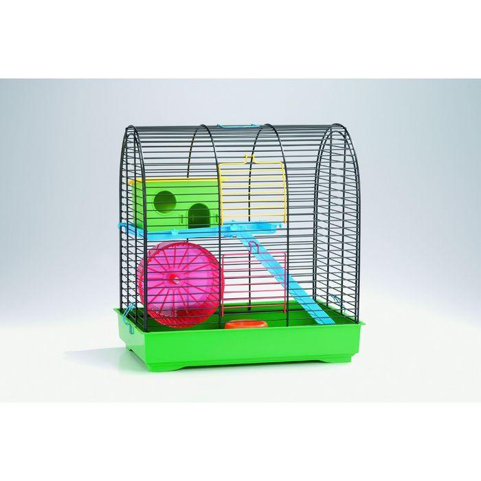 Клетка Beeztees  Grim 2  для грызунов, комплект, черно-зеленая 37*25*39см