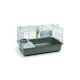 Клетка Beeztees  Deluxe  для кролика серебристо-серая, 80*50*44см