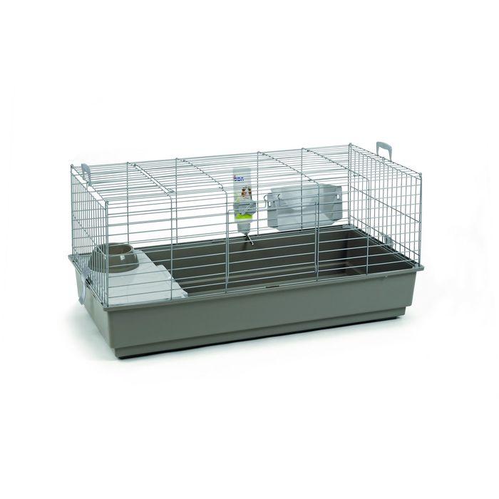 Клетка Beeztees  Deluxe  для кролика серебристо-серая, 100*50*47см