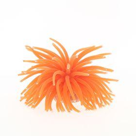 Коралл силиконовый на керамической основе, оранжевый, 13х13х10см (RT187OR)