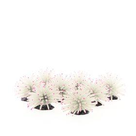 Коралл силиконовый на полирезиновой основе, белый, 4.5х4.5х4см (8шт) (RT172XSW)