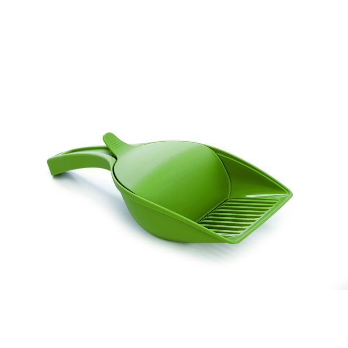 Совок Beeztees  для туалета зеленый 27,5*12,5см