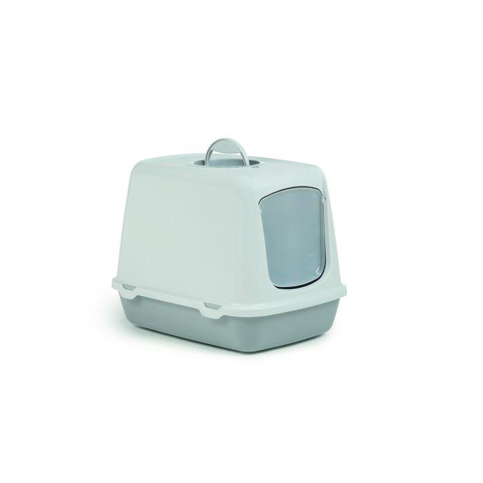 Туалет-домик Beeztees Oscar для кошек серый 50*37*39см