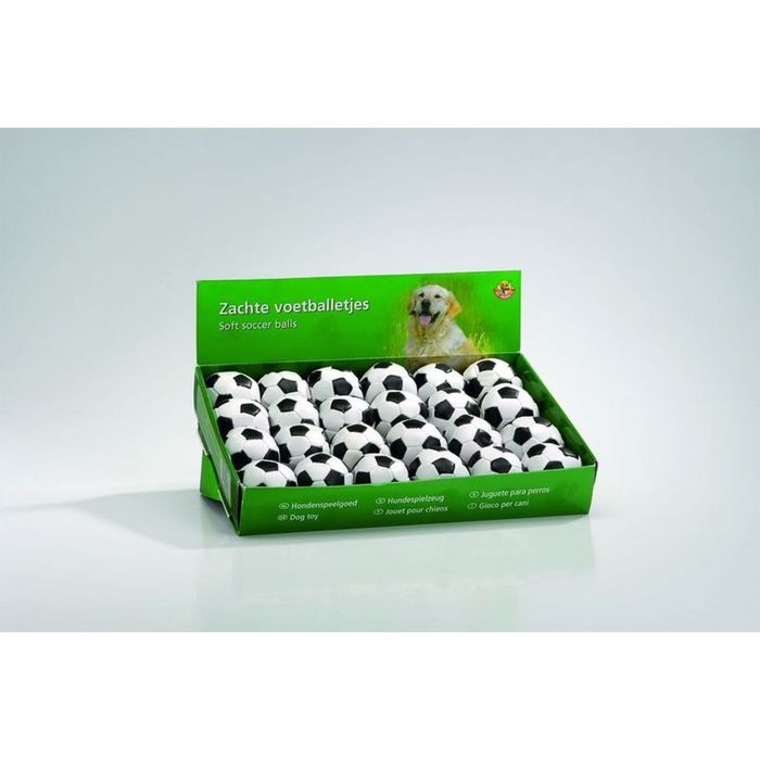 """Игрушка Beeztees для кошек """"Мяч футбольный"""" мягкий, бело-чёрный 5,5 см"""