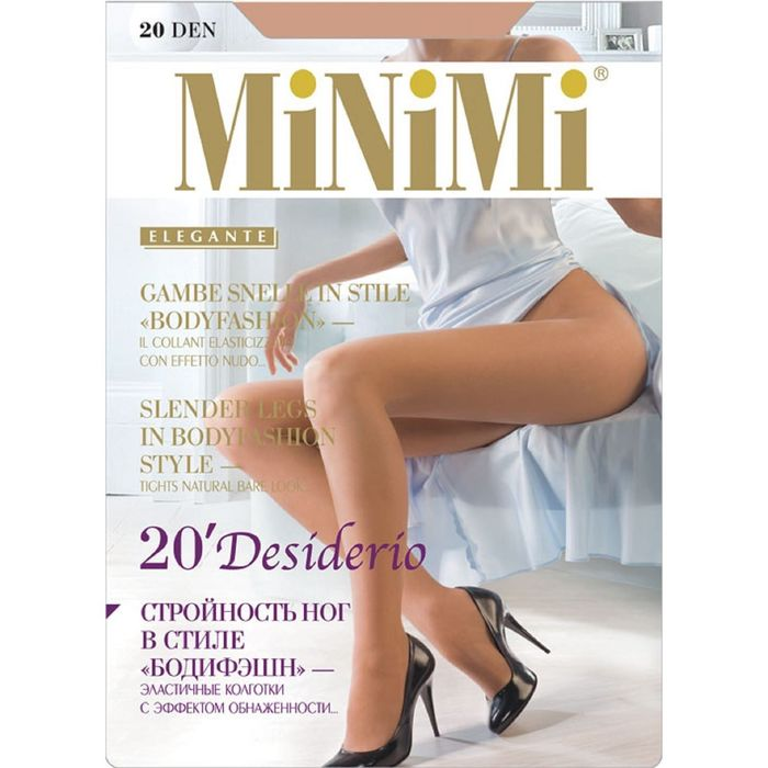 Колготки MiNiMi, Desiderio 20 Nudo (100/10), размер 3, daino