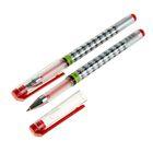 Ручка гелевая, 0.5 мм, красная, с рифлёным держателем, «Ромбики»