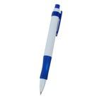 Ручка шариковая авт 0,5мм Лого корпус белый с синим резиновым держателем стержень синий