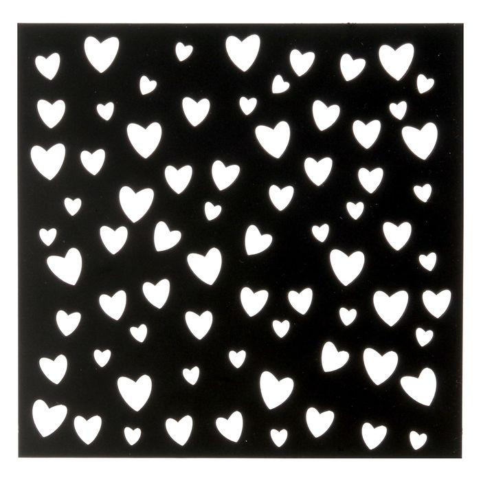 Трафарет для творчества «Сердечки», 15 х 15 см