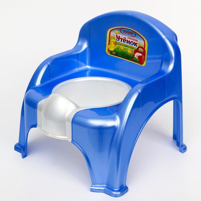 Горшок-стульчик «Утёнок», цвет голубой