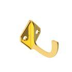 Крючок для одежды, однорожковый, малый, цвет золото