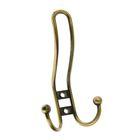 Крючок-вешалка, трехрожковый, цвет бронза