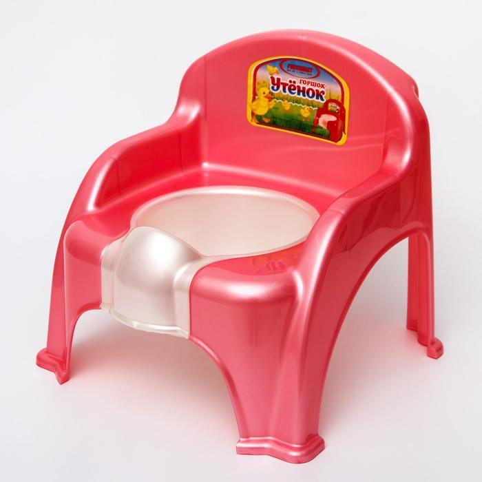 Горшок-стульчик «Утёнок», цвет розовый - фото 105451490