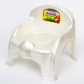 Горшок-стульчик «Утёнок», цвет белый