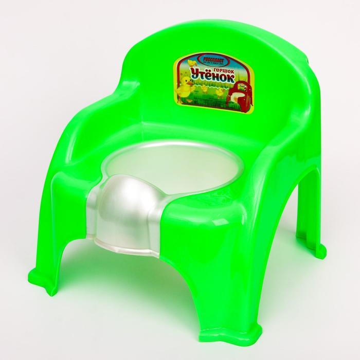 Горшок-стульчик «Утёнок», цвет салатовый