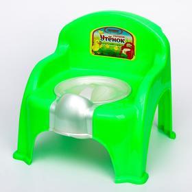 Горшок-стульчик «Утёнок» с крышкой, цвет салатовый