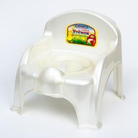 Горшок-стульчик «Утёнок» с крышкой, цвет белый