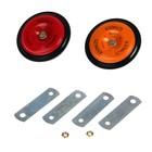 Автомобильный сигнал, металл, 2 шт., красный/оранжевый